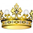Stock Vector: Gold royal crown