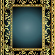 Royalty-Free Stock Vector Image: Frame with vegetable gold(en) pattern