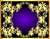 Decorative background frame with gold(en) pattern — Stock Vector