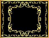 Vintage decorative background frame with gold(en) pattern — Stockvektor
