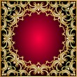 Background frame with pearl and gold(en) pattern — Stock Vector