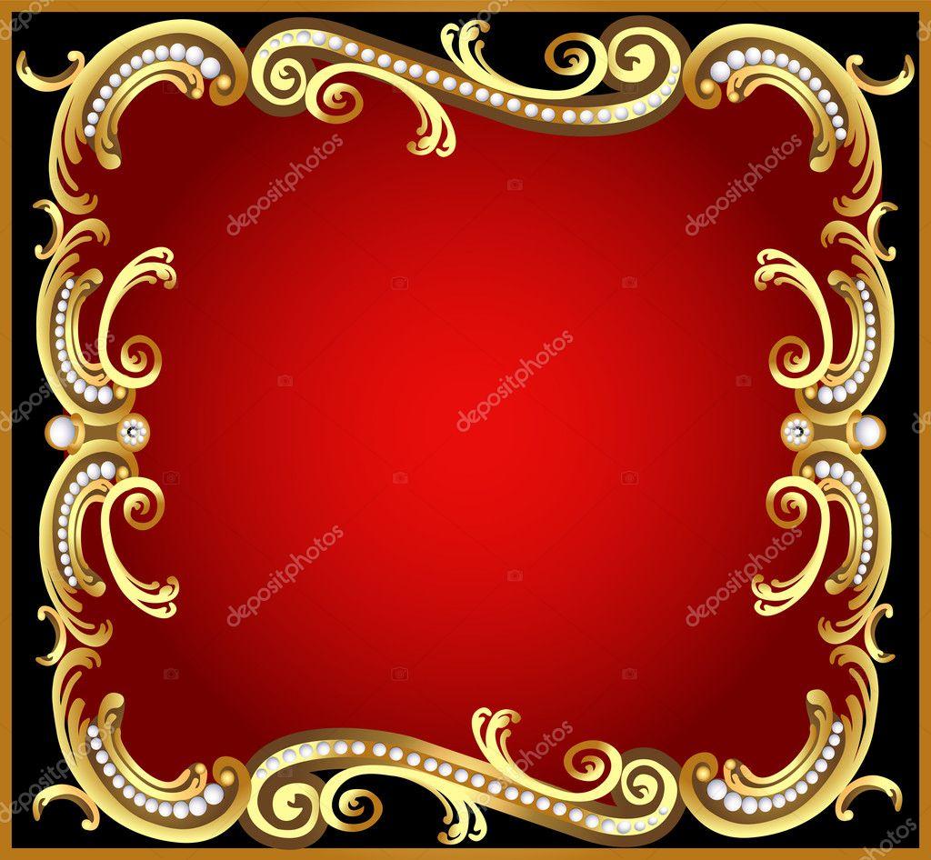 cadre d coratif avec or motif perle image vectorielle. Black Bedroom Furniture Sets. Home Design Ideas