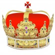 Crown with an ornamen — Stock Photo