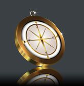 Gold(en) compass — Stock Photo