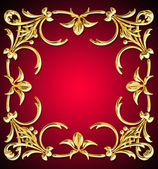 Illustration background gold pattern — Stock Photo