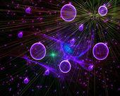 De kosmische afbeelding — Stockfoto
