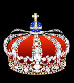 Crown with brilliants — Stock Photo