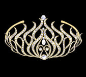 Woman decorative crown — Stock Photo
