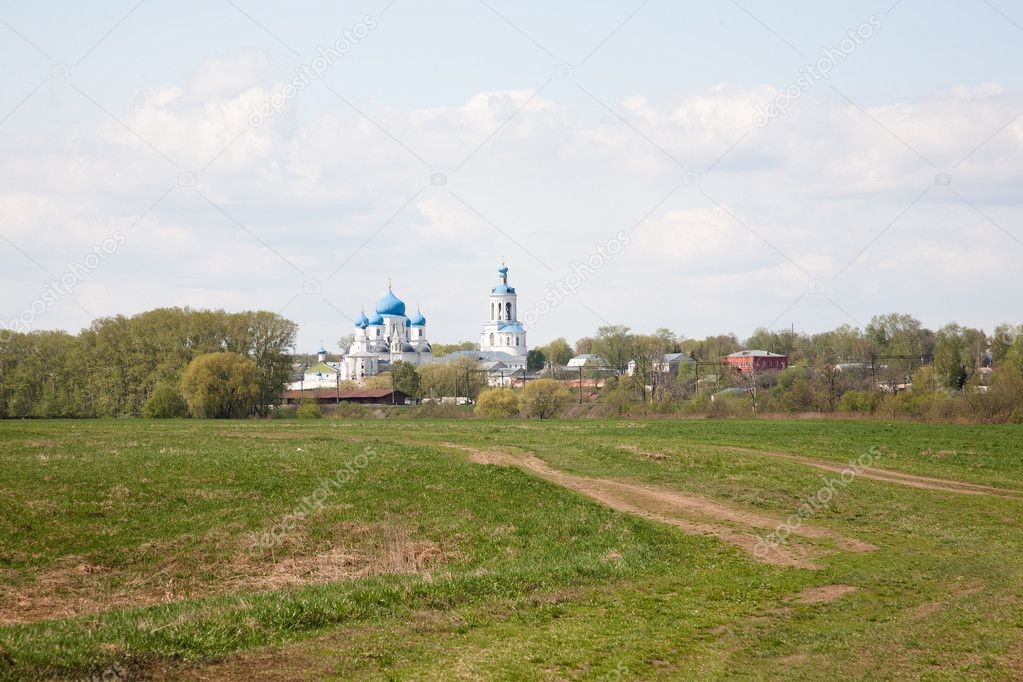 Orthodoxy monastery in Bogolyubovo in summer day (Russia) — Stock Photo #6834983