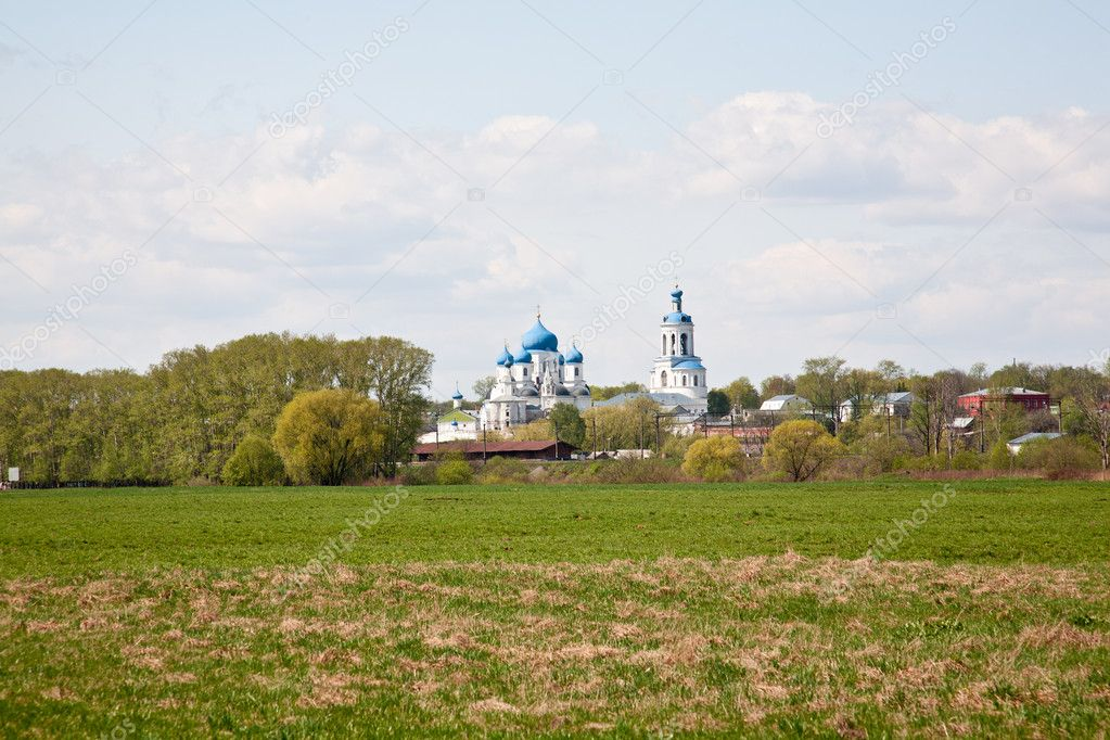 Orthodoxy monastery in Bogolyubovo in summer day (Russia) — Foto de Stock   #6835017