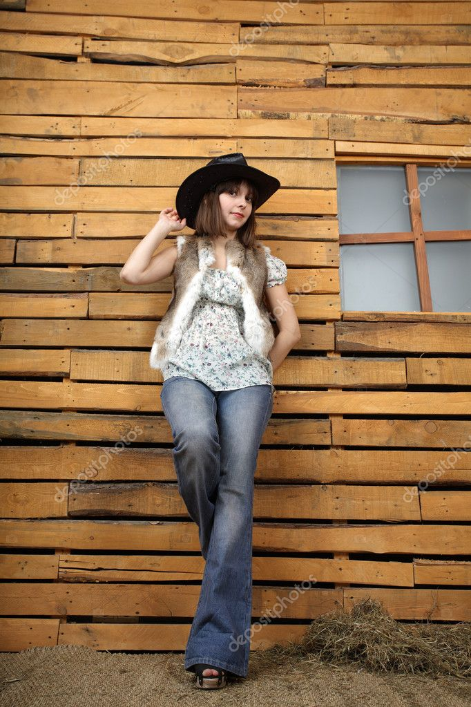 Beautiful girl in style of the country — Stock Photo #6903696