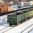 Commodity cars on rails — Stock Photo #7010184