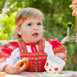 Stock Photo: Little girl in Russian national dress