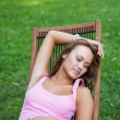 Girl has a rest — Stock Photo