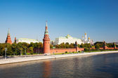 Russia, Moscow, type to the Moscow Kremlin and the river — Stock Photo