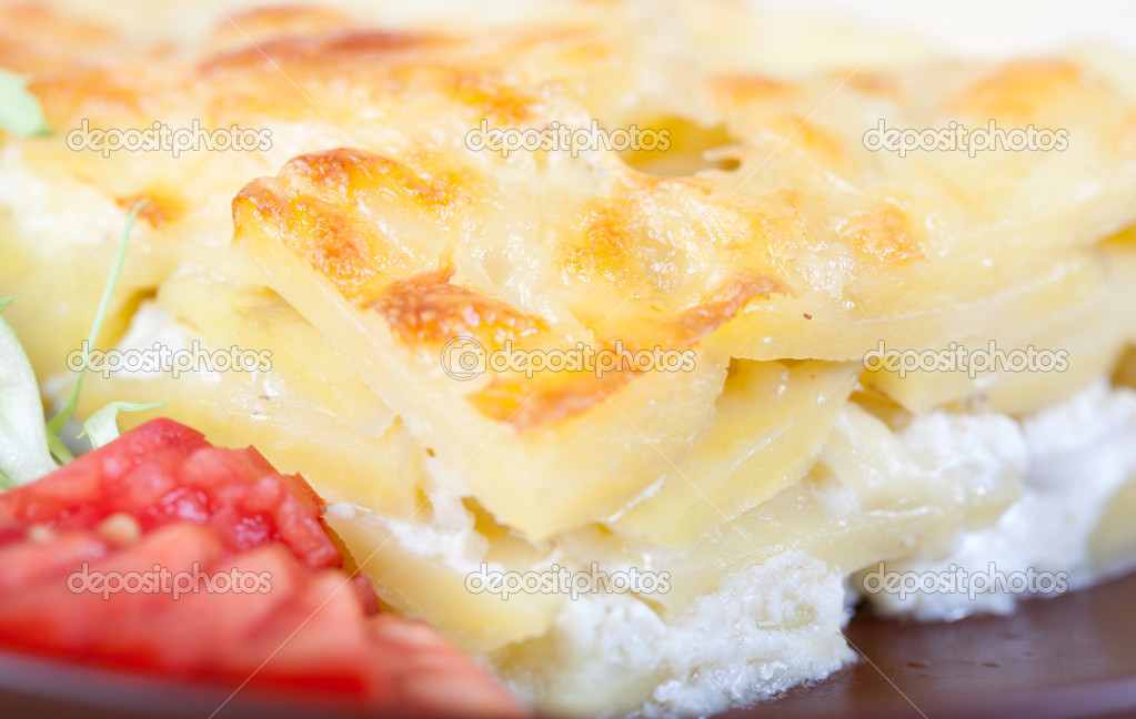 Potato baked pudding — Stock Photo #7165629