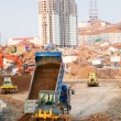 Construction of a new road in the city - Stock Photo