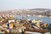 View of Vladivostok and the Golden Horn — Stok fotoğraf
