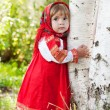 Little girl in Russian traditional dress — Stock Photo #7250105