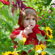 Little girl in Russian national dress — Stock Photo #7250127