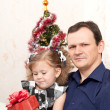 Father with a small daughter — Stock Photo
