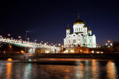Orthodox church of Christ the Savior at night — Stock Photo