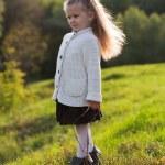 Beautiful little girl on walk in autumn park — Stock Photo #7509169