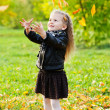 Royalty-Free Stock Photo: Beautiful little girl on walk in autumn park
