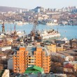 Kind to Vladivostok from highest hill — Stock Photo #7629512