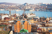 Kind to Vladivostok from the highest hill — 图库照片