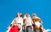 Grupa indian północno amerykańskich — Zdjęcie stockowe