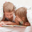 Lovely children - brother and sister, — Stock Photo