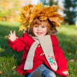 Beautiful little girl on walk in autumn park — Stock Photo #7947672