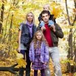 Family Enjoying Walk In Park — Stock Photo