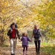 Family Enjoying Walk In Park - Photo