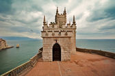 Well-known castle Swallow's Nest near Yalta in Crimea, Ukraine — Stock Photo