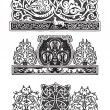 Ornament in the Gothic style — Stock Vector