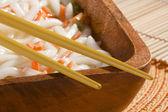 Golden Chopsticks — Stock Photo