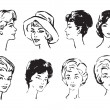 Royalty-Free Stock Vector Image: Women is faces