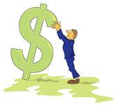 Dalende dollar — Stockvector