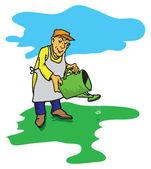 фигура садовник — Cтоковый вектор