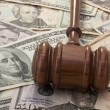 Gavel and Money — Stockfoto