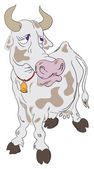 Sad cow — Stock Vector