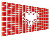 Albania flag — Stock Vector