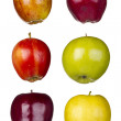 Six Different Apples — Stock Photo