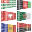 A set of flags 1 - Stock Vector