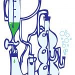 Equipment laboratory — Stock Vector