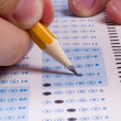 Taking a Test — Stock Photo