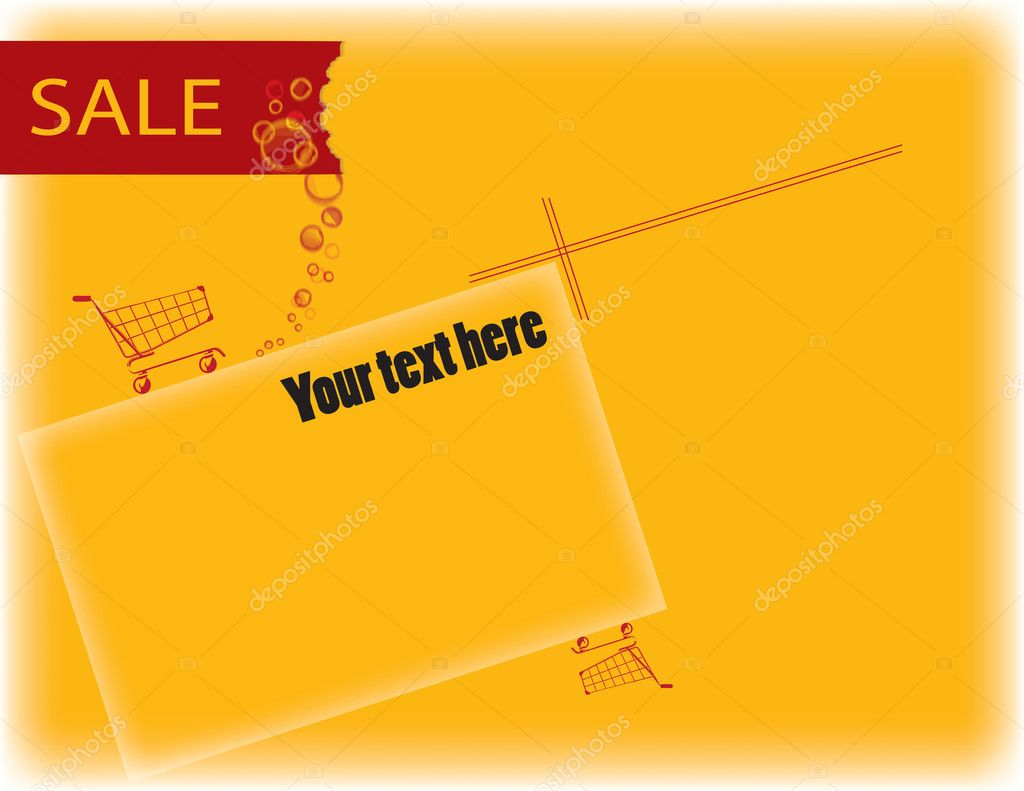 Vector background with the ability to accommodate the sale on its text and photos. — Stock Vector #7834917