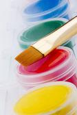 Vernice e pennello — Foto Stock